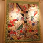 Small crazy quilt made by Lillian Belcher.