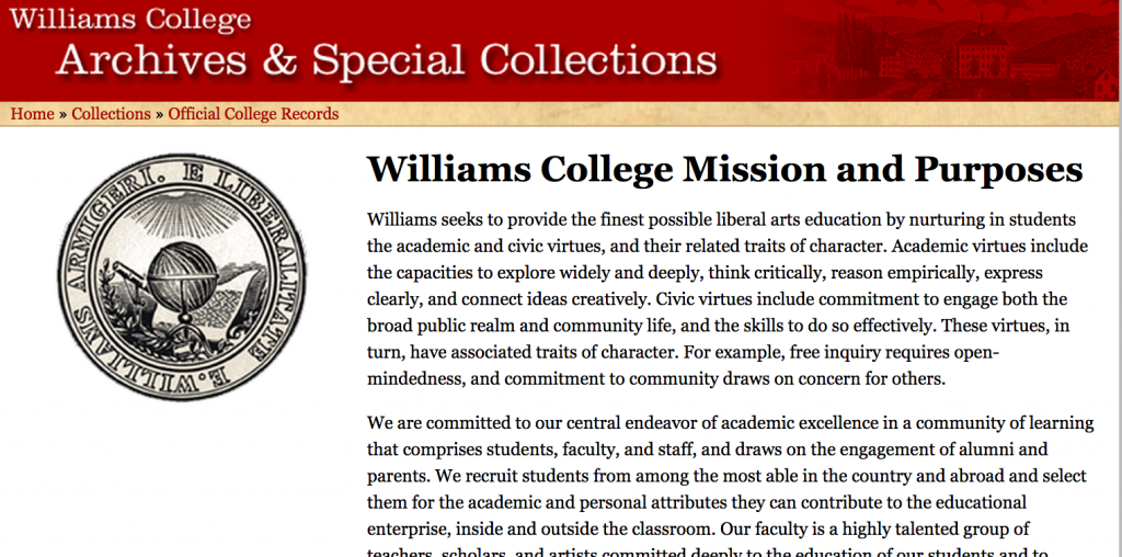 Astrophysics williams college subject tests